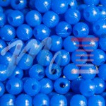 Non-luminous round blue beads with hole 8x8-1,8mm anti-break