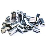 Mini aluminum single-sleeves length 10mm